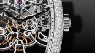 Franck Muller Curvex Skeleton Diamanten 39mm
