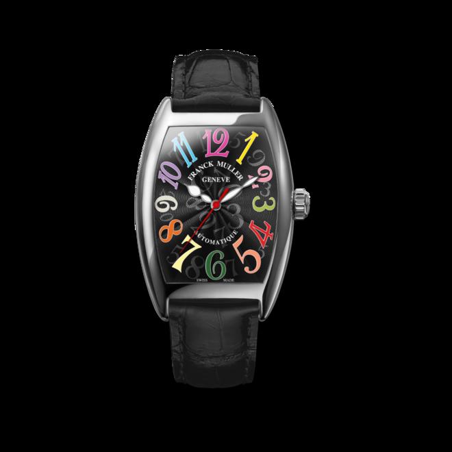 Damenuhr Franck Muller Cintrée Curvex Automatik mit schwarzem Zifferblatt und Alligatorenleder-Armband bei Brogle