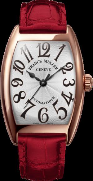 Damenuhr Franck Muller Cintrée Curvex Automatik 29 x 39 x 7,2mm mit weißem Zifferblatt und Alligatorenleder-Armband