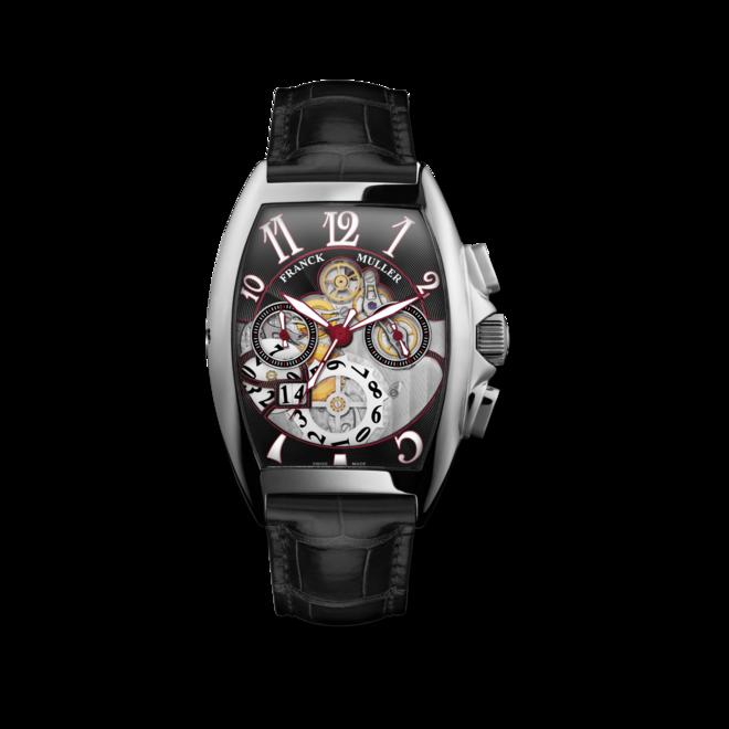 Herrenuhr Franck Muller Cintrée Curvex Automatik Chronograph mit schwarzem Zifferblatt und Alligatorenleder-Armband bei Brogle