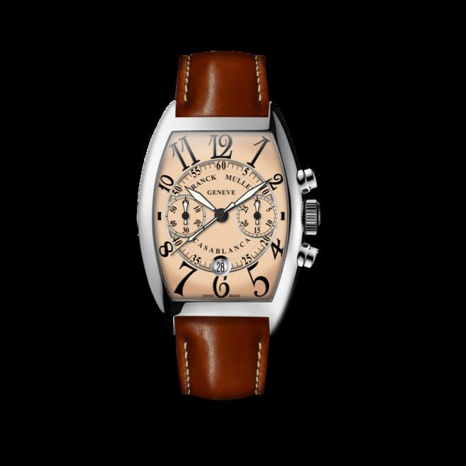 Herrenuhr Franck Muller Cintrée Curvex Automatik Chronograph mit roséfarbenem Zifferblatt und Alligatorenleder-Armband bei Brogle