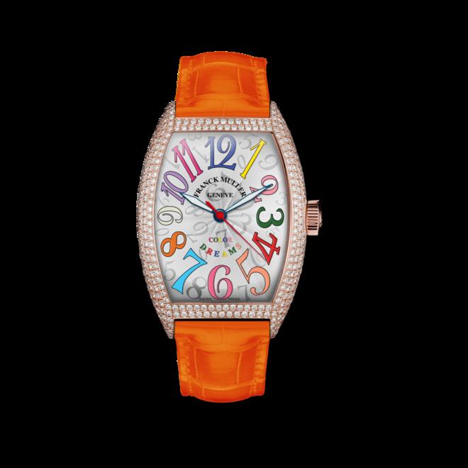Damenuhr Franck Muller Cintrée Curvex Automatik Color Dreams mit weißem Zifferblatt und Alligatorenleder-Armband bei Brogle
