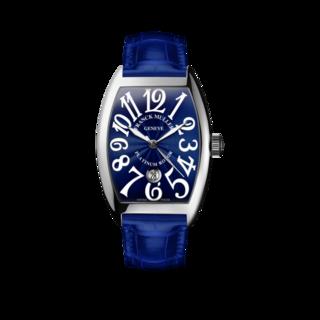 Franck Muller Damenuhr Cintrée Curvex Automatik Datum 7851-SC-DT-AC-BLUE-ALLBLUE