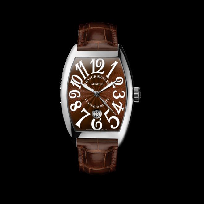 Herrenuhr Franck Muller Cintrée Curvex Automatik Datum mit braunem Zifferblatt und Alligatorenleder-Armband bei Brogle