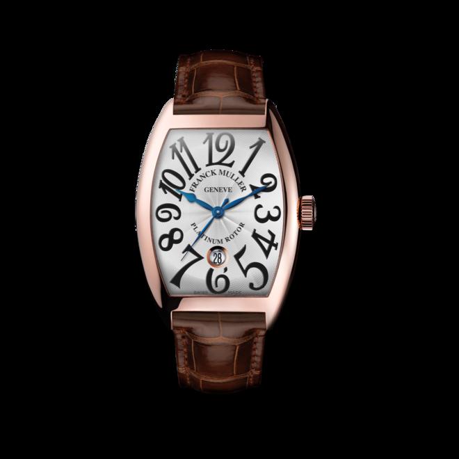 Damenuhr Franck Muller Cintrée Curvex Automatik Datum mit weißem Zifferblatt und Alligatorenleder-Armband bei Brogle