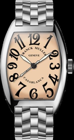 Damenuhr Franck Muller Cintrée Curvex Casablanca Automatik mit cremefarbenem Zifferblatt und Edelstahlarmband