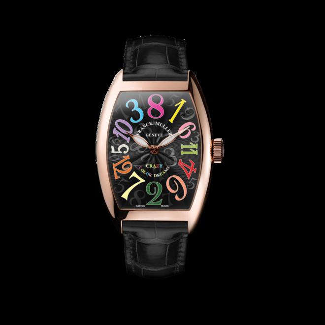Armbanduhr Franck Muller Crazy Hours mit schwarzem Zifferblatt und Alligatorenleder-Armband bei Brogle