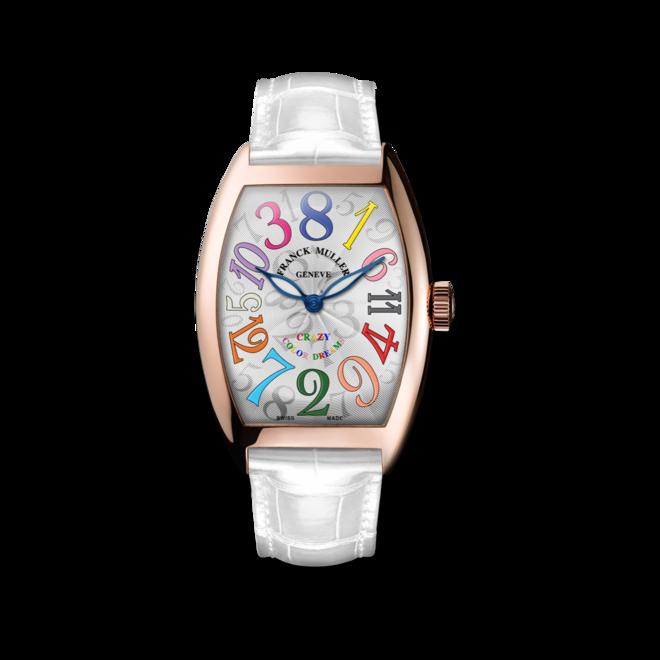 Armbanduhr Franck Muller Crazy Hours mit weißem Zifferblatt und Alligatorenleder-Armband bei Brogle