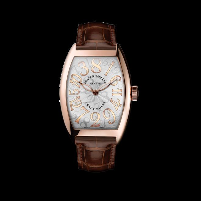 Herrenuhr Franck Muller Crazy Hours mit weißem Zifferblatt und Alligatorenleder-Armband bei Brogle
