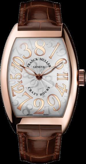 Herrenuhr Franck Muller Crazy Hours mit weißem Zifferblatt und Alligatorenleder-Armband