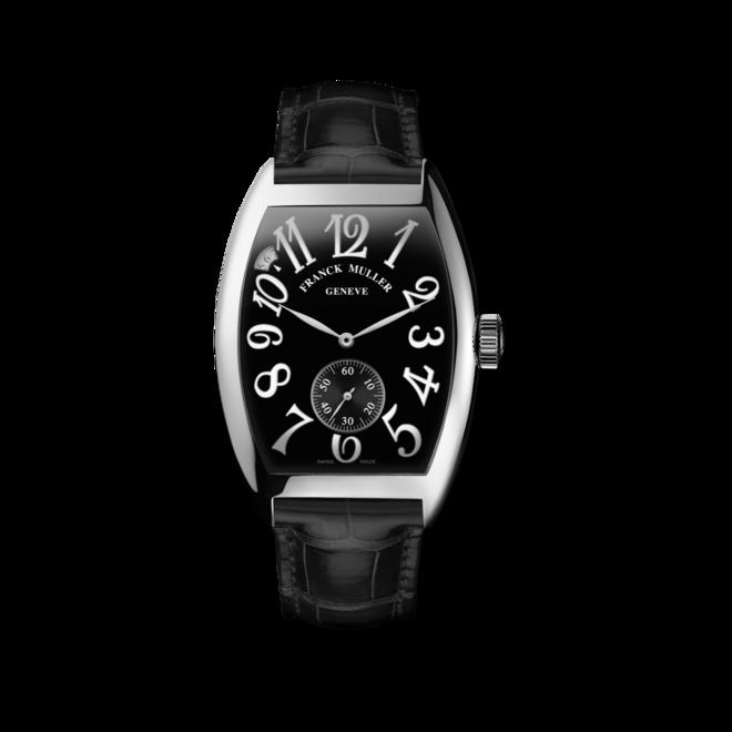 Herrenuhr Franck Muller Cintrée Curvex kleine Sekunde mit schwarzem Zifferblatt und Alligatorenleder-Armband bei Brogle