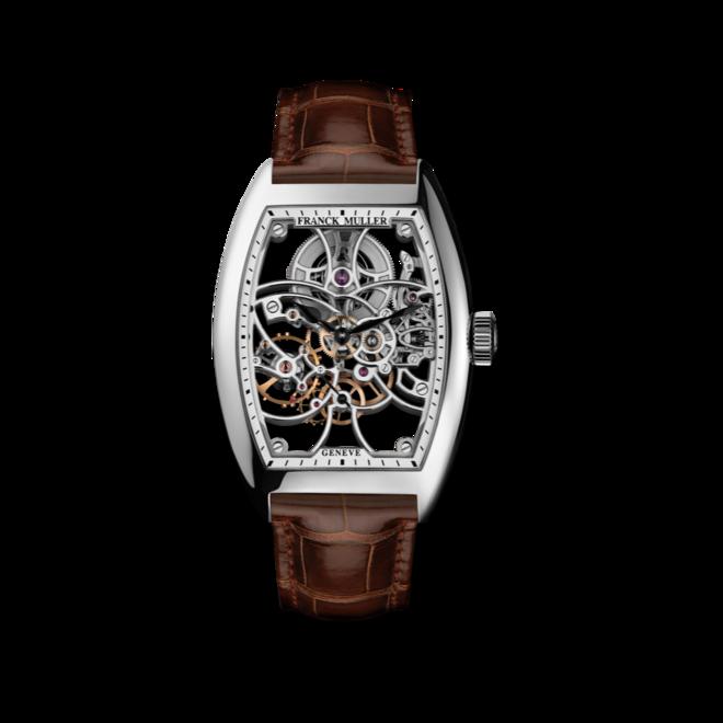 Herrenuhr Franck Muller Cintrée Curvex kleine Sekunde mit weißem Zifferblatt und Alligatorenleder-Armband bei Brogle