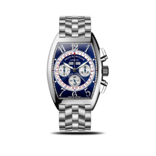 Franck Muller Armbanduhr Cintrée Curvex Master Calendar Chronograph 6850-CC-MC-AT-O-AC-BLUE