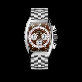 Franck Muller Armbanduhr Cintrée Curvex Master Calendar Chronograph 6850-CC-MC-AT-O-AC-BROWN