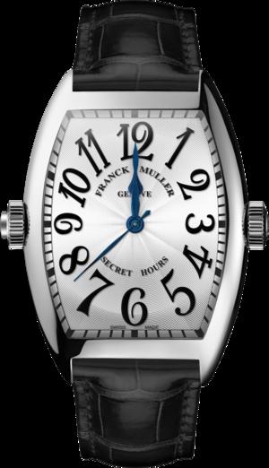 Herrenuhr Franck Muller Secret Hours mit weißem Zifferblatt und Alligatorenleder-Armband