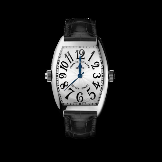Herrenuhr Franck Muller Secret Hours mit weißem Zifferblatt und Alligatorenleder-Armband bei Brogle