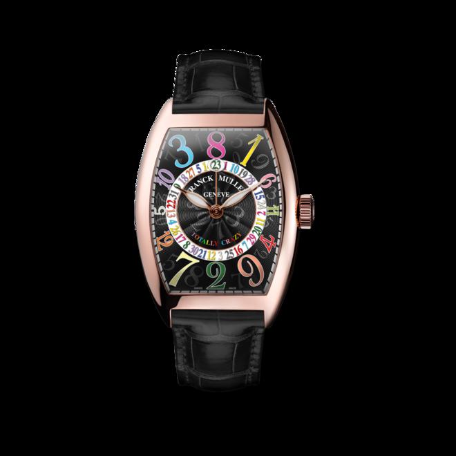 Armbanduhr Franck Muller Totally Crazy Hours mit schwarzem Zifferblatt und Alligatorenleder-Armband bei Brogle