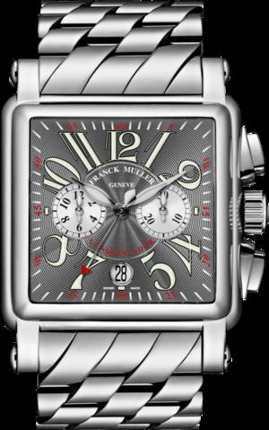 Armbanduhr Franck Muller Conquistador Cortez Chronograph mit grauem Zifferblatt und Edelstahlarmband