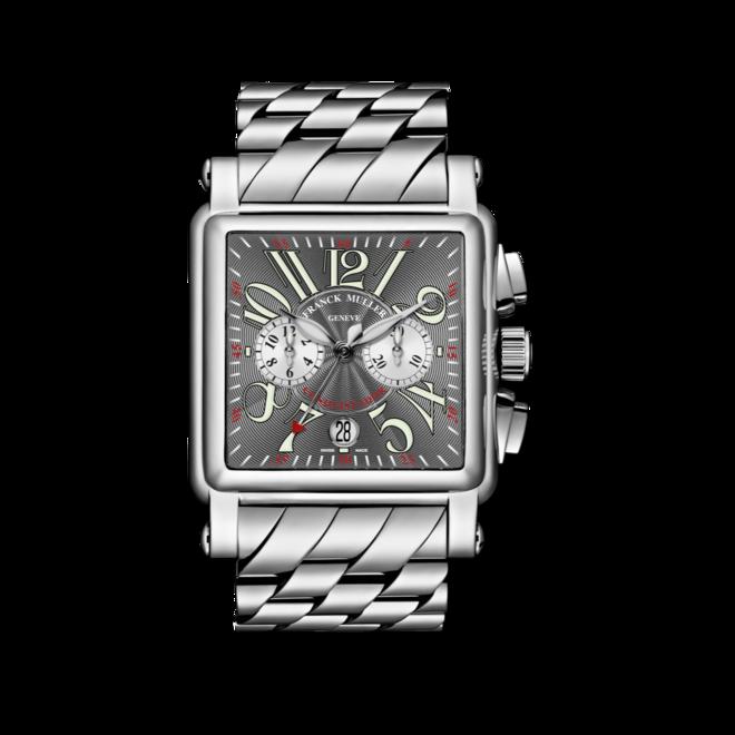Armbanduhr Franck Muller Conquistador Cortez Chronograph mit grauem Zifferblatt und Edelstahlarmband bei Brogle