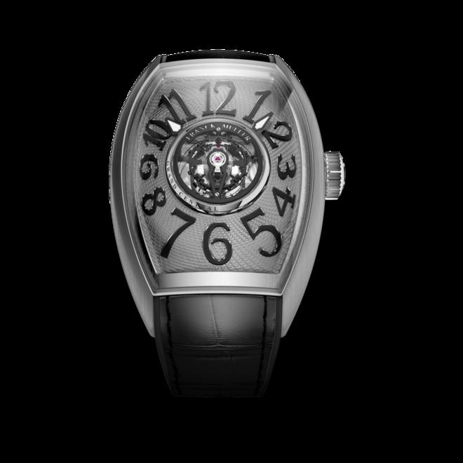 Herrenuhr Franck Muller Grand Central Cintree Curvex mit grauem Zifferblatt und Alligatorenleder-Armband bei Brogle