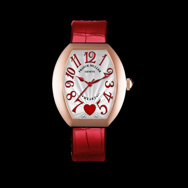 Damenuhr Franck Muller Heart Automatik mit weißem Zifferblatt und Alligatorenleder-Armband bei Brogle