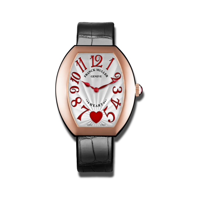 Damenuhr Franck Muller Heart Quarz mit weißem Zifferblatt und Alligatorenleder-Armband bei Brogle