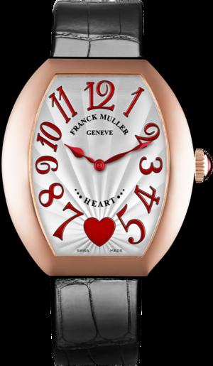 Damenuhr Franck Muller Heart Quarz mit weißem Zifferblatt und Alligatorenleder-Armband