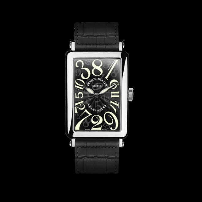 Herrenuhr Franck Muller Crazy Hours mit schwarzem Zifferblatt und Alligatorenleder-Armband bei Brogle