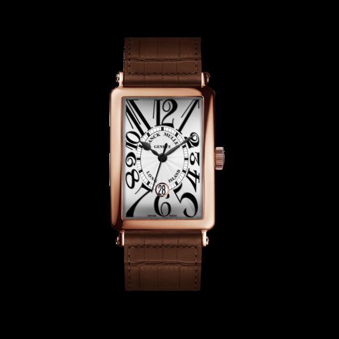 Armbanduhr Franck Muller Long Island Date mit weißem Zifferblatt und Alligatorenleder-Armband bei Brogle