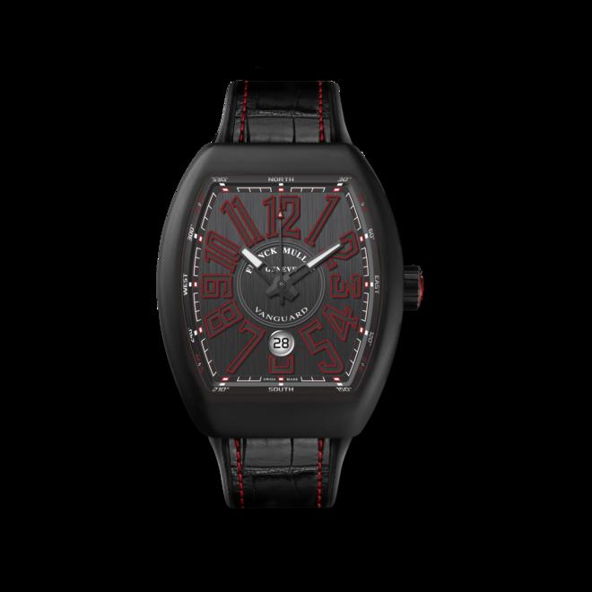 Herrenuhr Franck Muller Vanguard Automatik 44 x 53,7 x 12,7mm mit titanfarbenem Zifferblatt und Alligatorenleder-Armband bei Brogle