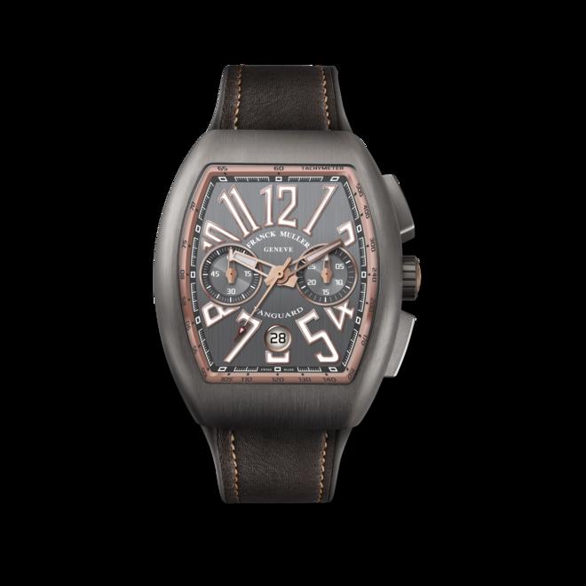 Herrenuhr Franck Muller Vanguard Automatik Chronograph 44 x 53,7 x 15,1mm mit grauem Zifferblatt und Alligatorenleder-Armband bei Brogle