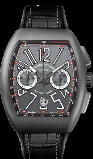 Herrenuhr Franck Muller Vanguard Automatik Chronograph mit titanfarbenem Zifferblatt und Alligatorenleder-Armband