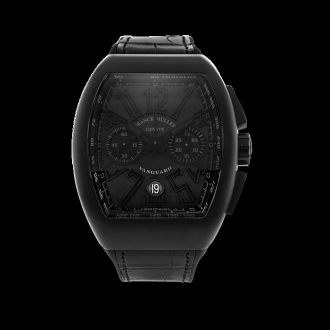 Herrenuhr Franck Muller Vanguard Automatik Chronograph mit titanfarbenem Zifferblatt und Alligatorenleder-Armband bei Brogle