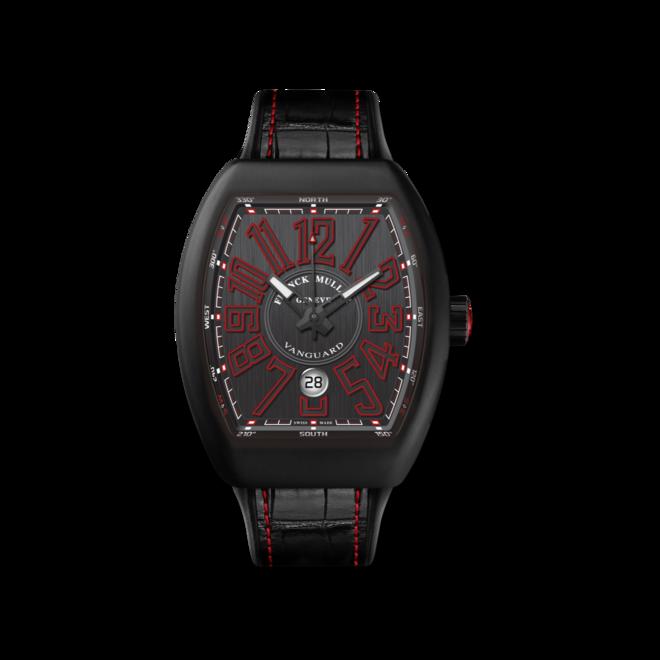 Herrenuhr Franck Muller Vanguard Automatik Datum mit titanfarbenem Zifferblatt und Alligatorenleder-Armband bei Brogle