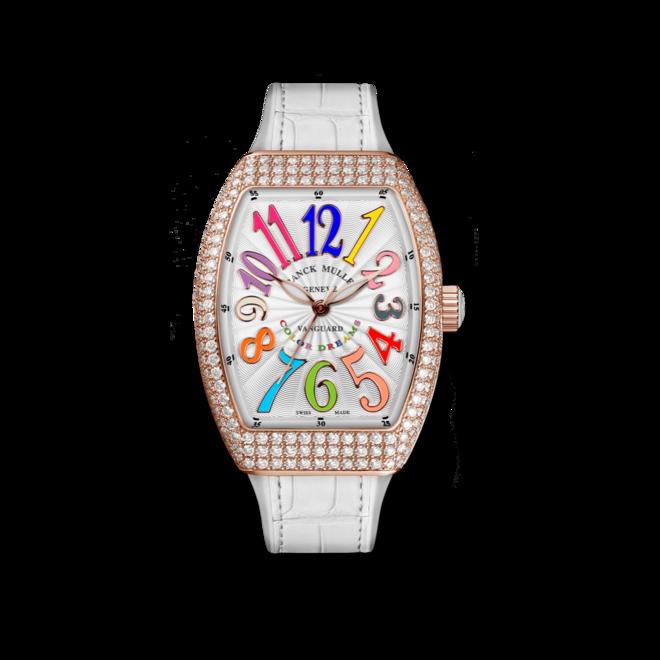 Damenuhr Franck Muller Vanguard Automatik mit weißem Zifferblatt und Alligatorenleder-Armband bei Brogle