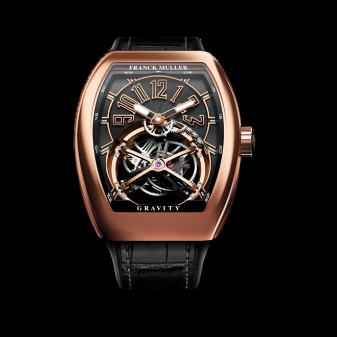 Herrenuhr Franck Muller Vanguard Gravity Classic mit schwarzem Zifferblatt und Alligatorenleder-Armband bei Brogle