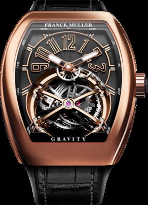 Herrenuhr Franck Muller Vanguard Gravity Classic mit schwarzem Zifferblatt und Alligatorenleder-Armband