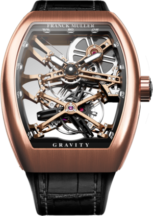 Herrenuhr Franck Muller Vanguard Gravity Skeleton mit Alligatorenleder-Armband