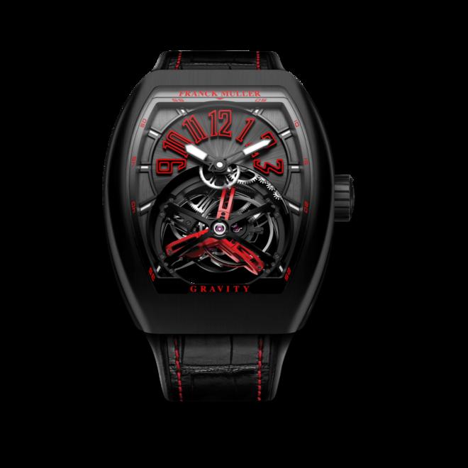 Herrenuhr Franck Muller Vanguard Gravity mit schwarzem Zifferblatt und Alligatorenleder-Armband bei Brogle