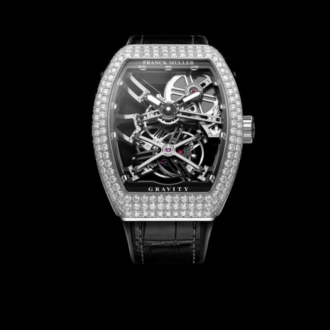 Herrenuhr Franck Muller Gravity mit Diamanten und Alligatorenleder-Armband bei Brogle