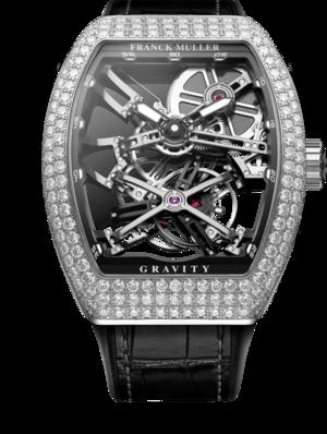 Herrenuhr Franck Muller Gravity mit Diamanten und Alligatorenleder-Armband