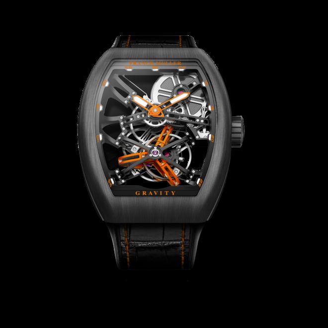 Herrenuhr Franck Muller Gravity mit grauem Zifferblatt und Alligatorenleder-Armband bei Brogle
