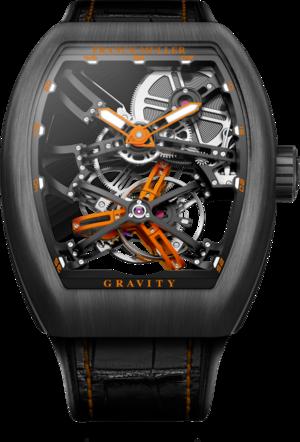 Herrenuhr Franck Muller Gravity mit grauem Zifferblatt und Alligatorenleder-Armband