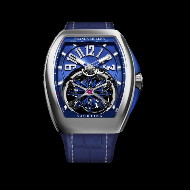 Herrenuhr Franck Muller Vanguard Gravity Yachting mit blauem Zifferblatt und Alligatorenleder-Armband bei Brogle