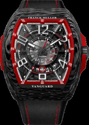 Herrenuhr Franck Muller Vanguard Racing Skeleton mit mehrfarbigem Zifferblatt und Alligatorenleder-Armband