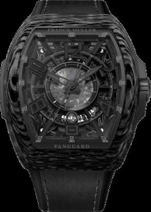 Herrenuhr Franck Muller Vanguard Racing Skeleton mit schwarzem Zifferblatt und Alligatorenleder-Armband