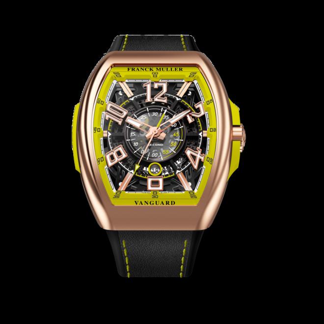 Herrenuhr Franck Muller Vanguard Racing Skeleton mit mehrfarbigem Zifferblatt und Alligatorenleder-Armband bei Brogle