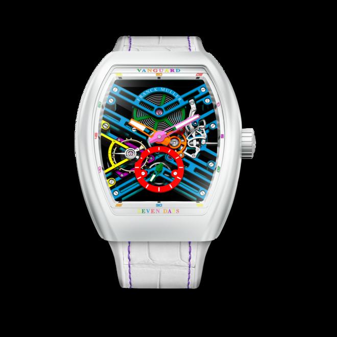 Herrenuhr Franck Muller Vanguard Skeleton Colored Dream mit mehrfarbigem Zifferblatt und Alligatorenleder-Armband bei Brogle