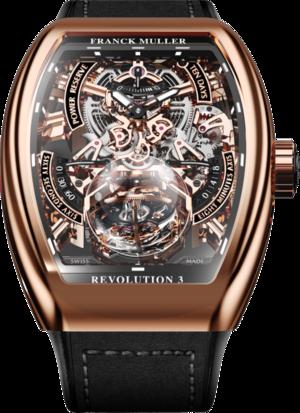 Herrenuhr Franck Muller Vanguard Tourbillon Revolution 3 Skeleton mit zweifarbigem Zifferblatt und Alcantaraleder-Armband