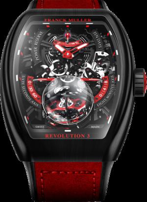 Herrenuhr Franck Muller Vanguard Tourbillon Revolution 3 mit zweifarbigem Zifferblatt und Alcantaraleder-Armband
